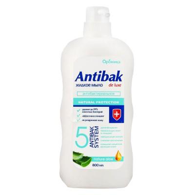 Антибактериальное жидкое мыло Antibak de luxe Nature Aloe
