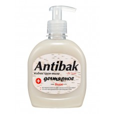 Жидкое мыло дегтярное Antibak de luxe белое