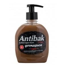 Жидкое мыло дегтярное Antibak de luxe черное