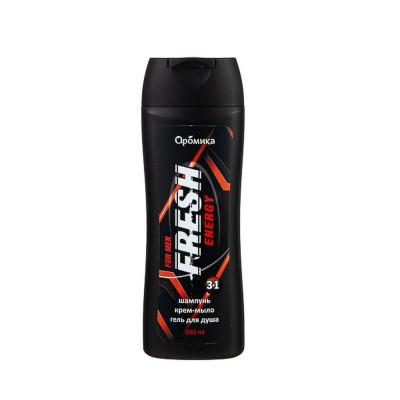 Шампунь для мужчин 3в1, гель для душа, крем-мыло Fresh Energy
