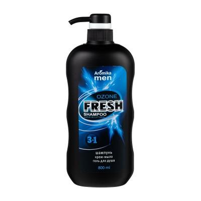 Шампунь для мужчин 3в1, гель для душа мужской, крем-мыло Fresh Ozone