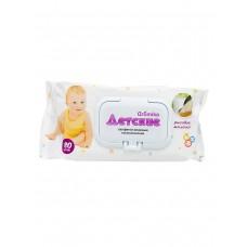 Детские влажные салфетки Аромика Рисовое молочко, 80 шт